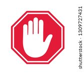 stop road sign. prohibited... | Shutterstock .eps vector #1309727431