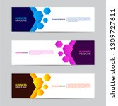 corporate banner collection... | Shutterstock .eps vector #1309727611