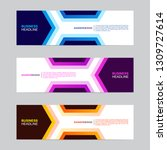 corporate banner collection... | Shutterstock .eps vector #1309727614