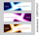 corporate banner collection... | Shutterstock .eps vector #1309727617