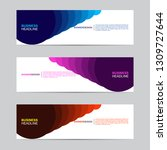 abstract web banner collection. ... | Shutterstock .eps vector #1309727644