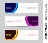 abstract web banner collection. ... | Shutterstock .eps vector #1309727647