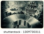 titanium cogs and gears for the ... | Shutterstock . vector #1309730311