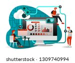 vector illustration of file... | Shutterstock .eps vector #1309740994