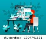 vector illustration technology... | Shutterstock .eps vector #1309741831