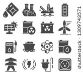 energy related gray icons.... | Shutterstock .eps vector #1309743571