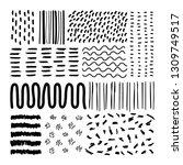 hand drawn patterned design... | Shutterstock .eps vector #1309749517