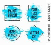 set of black vector frames with ... | Shutterstock .eps vector #1309752394