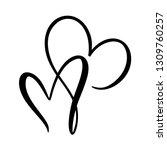 calligraphic love heart sign....   Shutterstock .eps vector #1309760257
