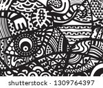 abstraction of buddhism.  | Shutterstock . vector #1309764397