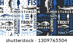 typographic vector fish... | Shutterstock .eps vector #1309765504