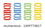 ribbons banners collection in... | Shutterstock .eps vector #1309773817