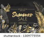 sale. summer sale tropical... | Shutterstock .eps vector #1309775554