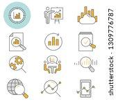 data analysis flat line icons.... | Shutterstock .eps vector #1309776787