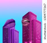 contemporary art collage.... | Shutterstock . vector #1309777267