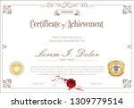 certificate or diploma retro... | Shutterstock .eps vector #1309779514
