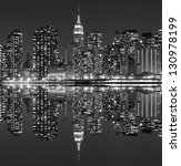 midtown manhattan skyline at... | Shutterstock . vector #130978199