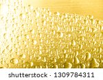 drops of water on a color... | Shutterstock . vector #1309784311