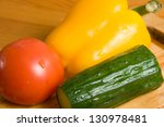 close up of three vegetables
