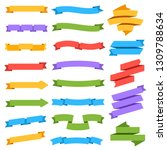 ribbons set. blank colorful... | Shutterstock .eps vector #1309788634