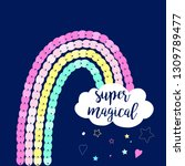 super magical slogan and hand... | Shutterstock .eps vector #1309789477