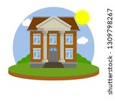 university building with white... | Shutterstock .eps vector #1309798267