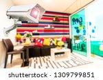 cctv camera system in the room  ... | Shutterstock . vector #1309799851