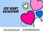 pop heart background design... | Shutterstock .eps vector #1309804444