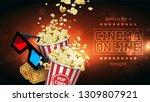 advertising for the film... | Shutterstock .eps vector #1309807921