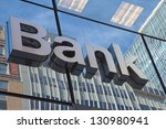 the glass wall of the building... | Shutterstock . vector #130980941