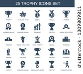 trophy icons. trendy 25 trophy... | Shutterstock .eps vector #1309809811