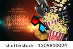 advertising for the film... | Shutterstock .eps vector #1309810024