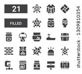 filled icon set. collection of... | Shutterstock .eps vector #1309810354