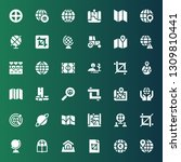 land icon set. collection of 36 ... | Shutterstock .eps vector #1309810441