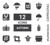 autumn icon set. collection of... | Shutterstock .eps vector #1309810561