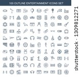 entertainment icons. trendy 100 ... | Shutterstock .eps vector #1309812271