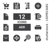 add icon set. collection of 12...   Shutterstock .eps vector #1309813681