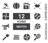 match icon set. collection of... | Shutterstock .eps vector #1309813831