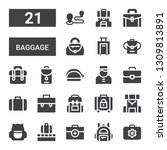 baggage icon set. collection of ... | Shutterstock .eps vector #1309813891