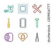9 hardware icons. trendy... | Shutterstock .eps vector #1309816777