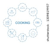 cooking icons. trendy 8 cooking ... | Shutterstock .eps vector #1309819957