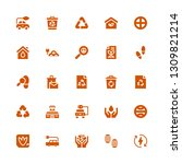 ecological icon set. collection ... | Shutterstock .eps vector #1309821214