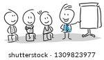 business meeting concept   Shutterstock . vector #1309823977