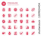 pressure icon set. collection...   Shutterstock .eps vector #1309824454