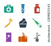 9 medical icons. trendy medical ... | Shutterstock .eps vector #1309825141