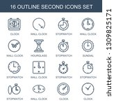 16 second icons. trendy second... | Shutterstock .eps vector #1309825171