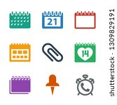 reminder icons. trendy 9... | Shutterstock .eps vector #1309829191