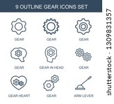9 gear icons. trendy gear icons ... | Shutterstock .eps vector #1309831357