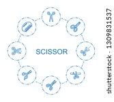scissor icons. trendy 8 scissor ...   Shutterstock .eps vector #1309831537
