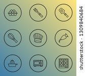 culinary icons line style set... | Shutterstock .eps vector #1309840684